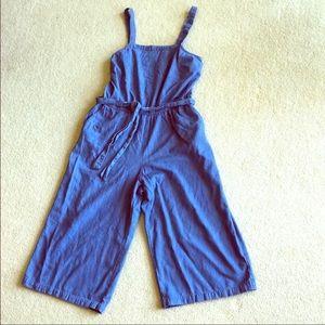 Large denim jumpsuit